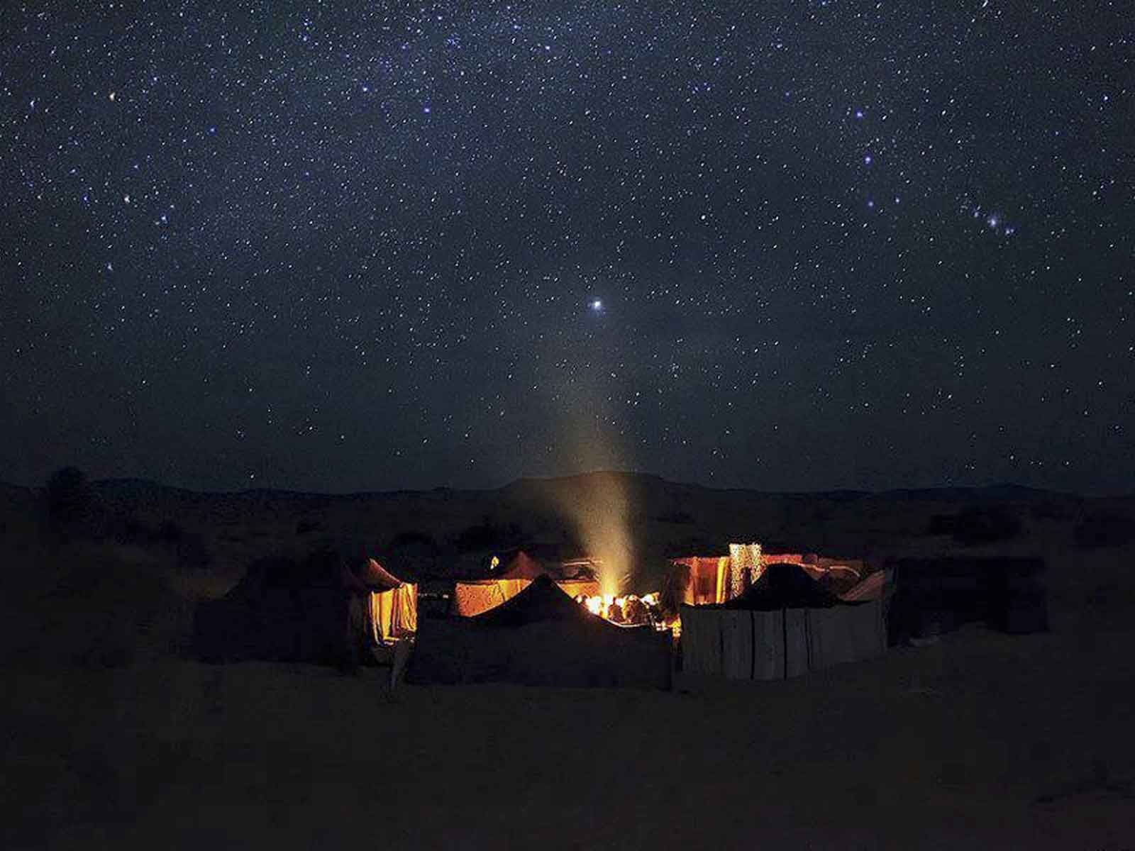 starry night in moroccan desert